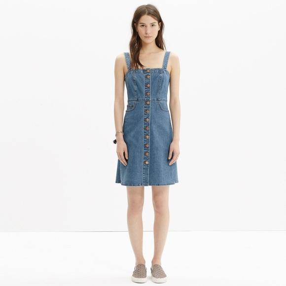 dd201728ef Madewell Dresses   Skirts - Madewell denim overall dress (rare)